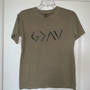 Comfort Colors greenish/tan T-shirt
